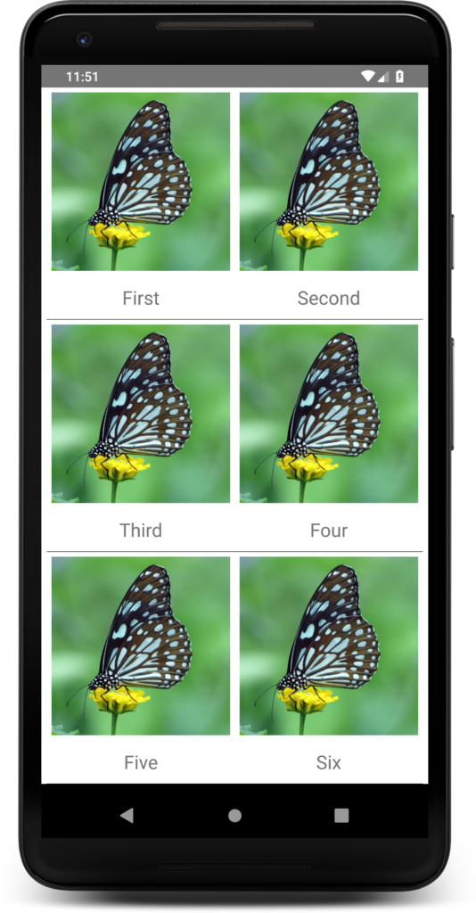 React-native GridView example using FlatList